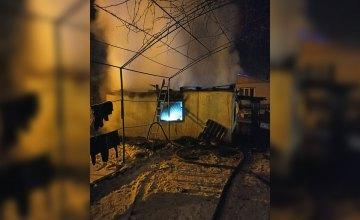 Ночью в АНД районе Днепра сгорел жилой дом