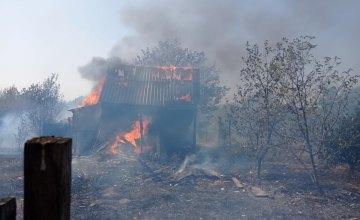 В Павлоградском районе сгорела дача