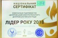 Лидер года: «Днепровский электротранспорт» признали лучшим сразу в нескольких номинациях Национального бизнес-рейтинга