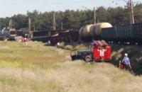 Стали известны подробности железнодорожной аварии в Днепре: сошли с рельс 11 вагонов и локомотив (ФОТО)