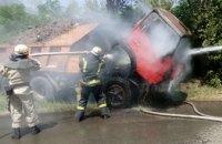 В Покрове спасатели потушили вспыхнувший грузовик (ФОТО)