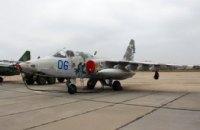 Под Запорожьем разбился военный самолет Су-25, погиб пилот