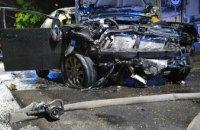 В центре Днепра Mitsubishi влетел в BMW и загорелся: есть пострадавшие (ФОТО)
