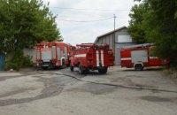 В Днепре произошел масштабный пожар на территории предприятия: огонь уничтожил 150 кв. метров