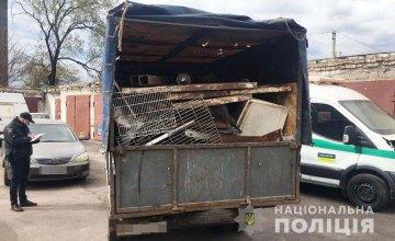 На Днепропетровщине задержали 19-летнего парня, который незаконно перевозил металлолом