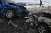 В Донецкой области в ДТП погибло 5 человек и 3 пострадало