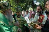 В дар для строящегося Сергиевского храма в Днепропетровске передан ковчег с частицей мощей небесного покровителя