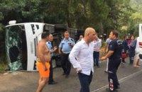 В Турции перевернулся автобус с туристами: есть пострадавшие