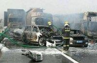 В Китае столкнулись 30 автомобилей: есть погибшие