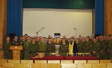 Днепропетровские военнослужащие отмечают Пасху по всем правилам