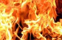 В Киеве произошел пожар в вагоне-рефрижераторе