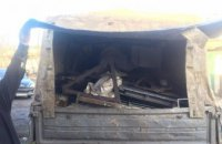На Днепропетровщине из грузового авто изъяли тонну металлолома