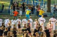 Чемпион мира по фехтованию Богдан Никишин провел тренировку в «активном парке» в Днепре (ФОТОРЕПОРТАЖ)