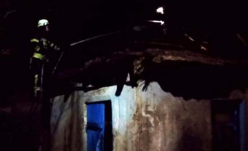 На Днепропетровщине при пожаре на территории частного дома сгорела летняя кухня
