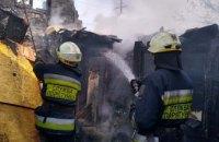 Под Днепром сгорел одноэтажный дом  (ФОТО)