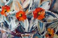 В художественном музее пожут картины днепропетровской художницы, написанные на стекле