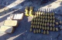 В Донецкой области возле футбольного поля нашли целый взрывной арсенал