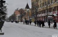 Последствия снегопада в центре Днепра (ФОТОРЕПОРТАЖ)