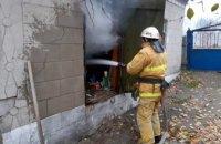 В Днепропетровской области сгорел гараж