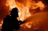 В Кривом Роге горел магазин в жилой многоэтажке