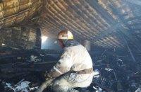 В Покровском районе на площади 170 м. кв. горела крыша частного дома (ФОТО)