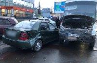 На Днепропетровщине столкнулись 3 авто: среди них маршрутка с пассажирами