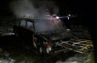 В Покровском районе сгорел жигуль
