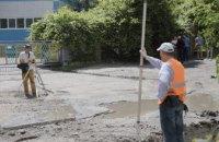 В Днепре строят ливневую канализацию на улице Мониторная
