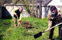Працівники КП «Дніпровський електротранспорт» навели лад та висадили дерева на території диспетчерської станції № 19