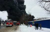 В Черновцах горел один из самых больших вещевых рынков в Украине