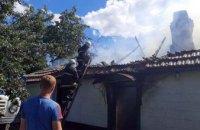 На Днепропетровщине произошел пожар в частном доме: огонь уничтожил 90 кв. м крыши