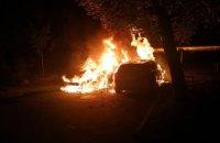 Ночью в Центральном районе Днепра горели припаркованные авто (ФОТО)