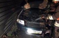 В Днепре на стоянке вспыхнула Audi (ФОТО)