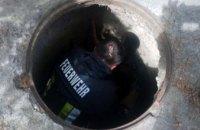 В Пятихатках щенок упал в открытый канализационный колодец
