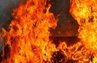 В Киеве на проезжей части загорелся троллейбус