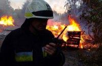 В Днепре на Кротова сгорел мусор на площади 450 кв. м. (ФОТО)