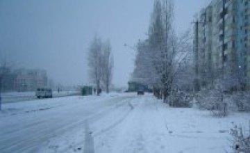 В Днепропетровске ведутся активные работы по уборке снега
