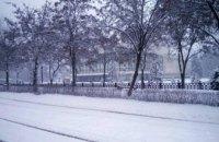 На Днепр обрушился сильный снегопад (ФОТО)