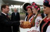 Медведев прилетел в Украину