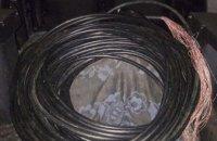 На Днепропетровщине с  поличным попался похититель телефонного кабеля