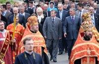 В Днепропетровске прошел крестный ход в память о погибших чернобыльцах