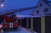 В Киеве произошел пожар в 3-этажном частном доме