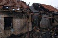 В Днепропетровской области дотла сгорел дом:  на пожарище нашли тело погибшего мужчины