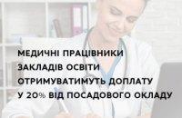 Медработникам учреждений образования будут доплачивать 20% от должностного оклада