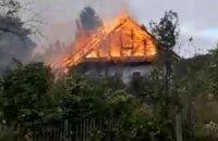 В АНД районе Днепра горел одноэтажный дом