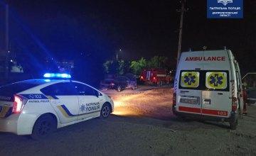 В Днепре загорелся автомобиль Mitsubishi Lancer: 30-летний водитель получил ожоги