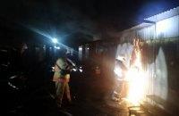 В Павлограде сгорел торговый павильон (ФОТО)