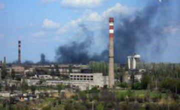 В Кривом Роге горит промышленный трансформатор на территории рудоремонтного завода