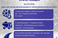На Днепропетровщине за последние сутки на дорогах работало более 20 единиц техники