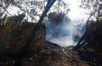 В Софиевском районе в результате возгорания сухостоя огонь перекинулся на частные дома